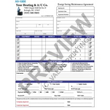 HV-1006 HVAC Maintenance Agreement Digital for Tablets
