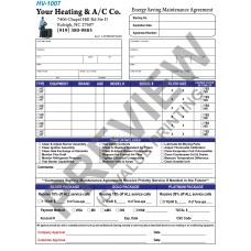 HV-1007 HVAC Extended Service Agreement Contract Digital for Tablets