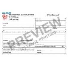 HV-1009 HVAC Half Sheet Short Sales Proposal Digital for Tablets