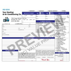HV-1014 HVAC & Plumbing Work Order Invoice Combo Digital for Tablets