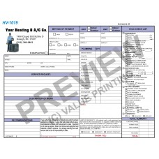 HV-1019 HVAC & Plumbing Work Order Invoice Combo Digital for Tablets