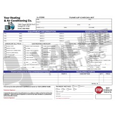HV-1021 HVAC Tune-Up Work Order Checklist Digital for Tablets