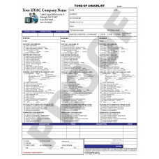 HV-1034 HVAC Multi-Unit Tune-Up Checklist Digital for Tablets
