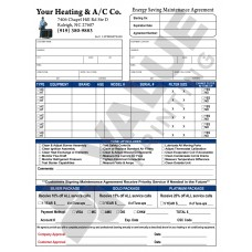 HV-1007C HVAC Extended Service Agreement Contract - Full Color