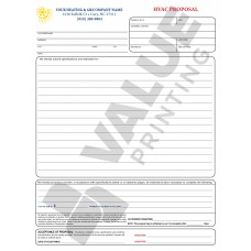HV-1010C HVAC Equipment Proposal Contract - Full Color