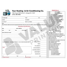 HV-1018C HVAC Equipment Change Out Contract Form (2 Sides, Terms on Back) - Full Color