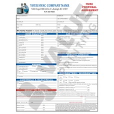 HV-1023C HVAC Equipment Change Out Contract Form (2 Sides, Terms on Back) - Full Color