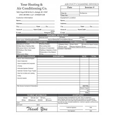 HV-1041 Air Duct Invoice
