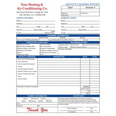 HV-1041C Air Duct Invoice - Full Color