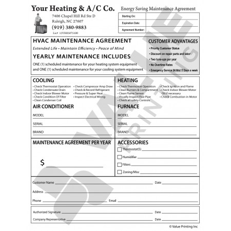 HV-1042 Annual Maintenance Agremeent **NEW**