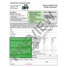 HV-1035C HVAC Maintenance Agreement (2 Color, Black & a Standard Color, With Backside Terms)