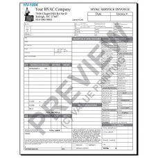 HV-1004 HVAC Time & Materials Work Order Form Digital for Tablets