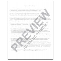 HV-1023 HVAC Equipment Change Out Contract Form (2 Sides, Terms on Back) Digital for Tablets