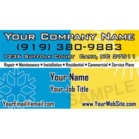 HVAC Business Card Magnet #11
