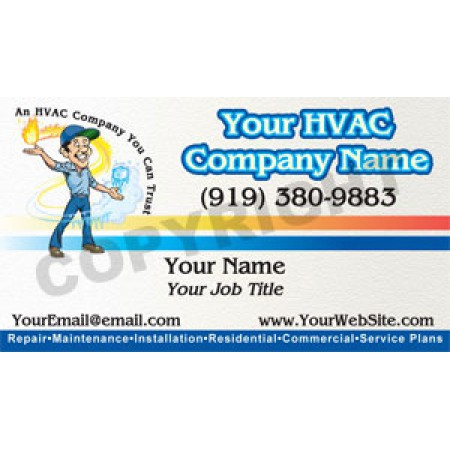 HVAC Business Card Magnet #13