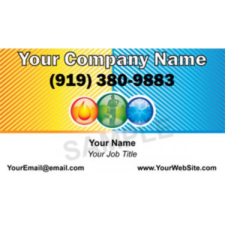 HVAC Business Card Magnet #3