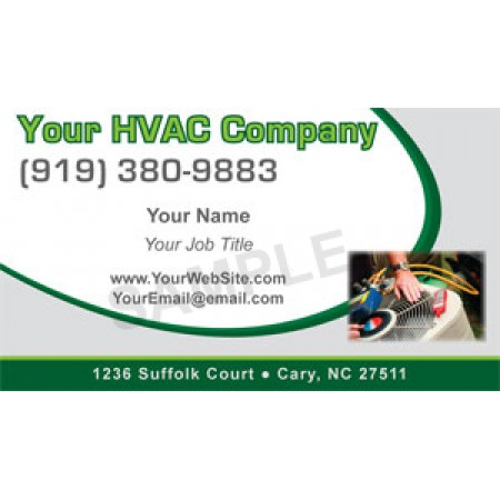 HVAC Business Card Magnet #4