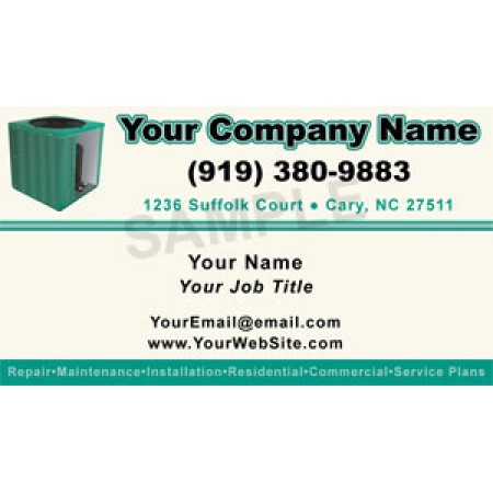 HVAC Business Card Magnet #8