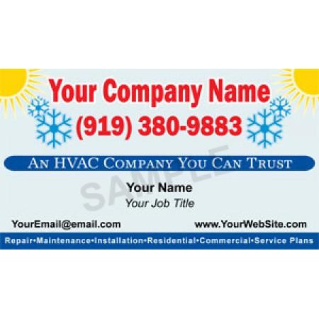 HVAC Business Card Magnet #9