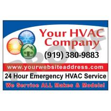 HVAC Vehicle Magnet #1