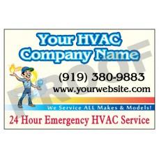 HVAC Vehicle Magnet #3