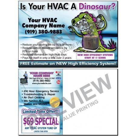 HVAC New System Sales Postcard #15 (Green Dinosaur)