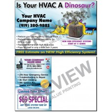 HVAC New System Sales Postcard #15 (Yellow Dinosaur)