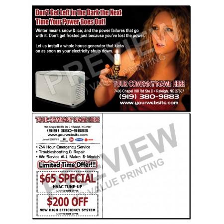 HVAC Home Generator Sales Postcard #20