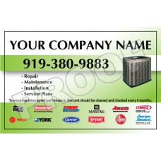 HVAC Weatherproof Service Call Sticker #20 (4.25x2.75)