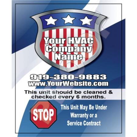 HVAC Weatherproof Service Call Sticker #24 (4.25x3.5)