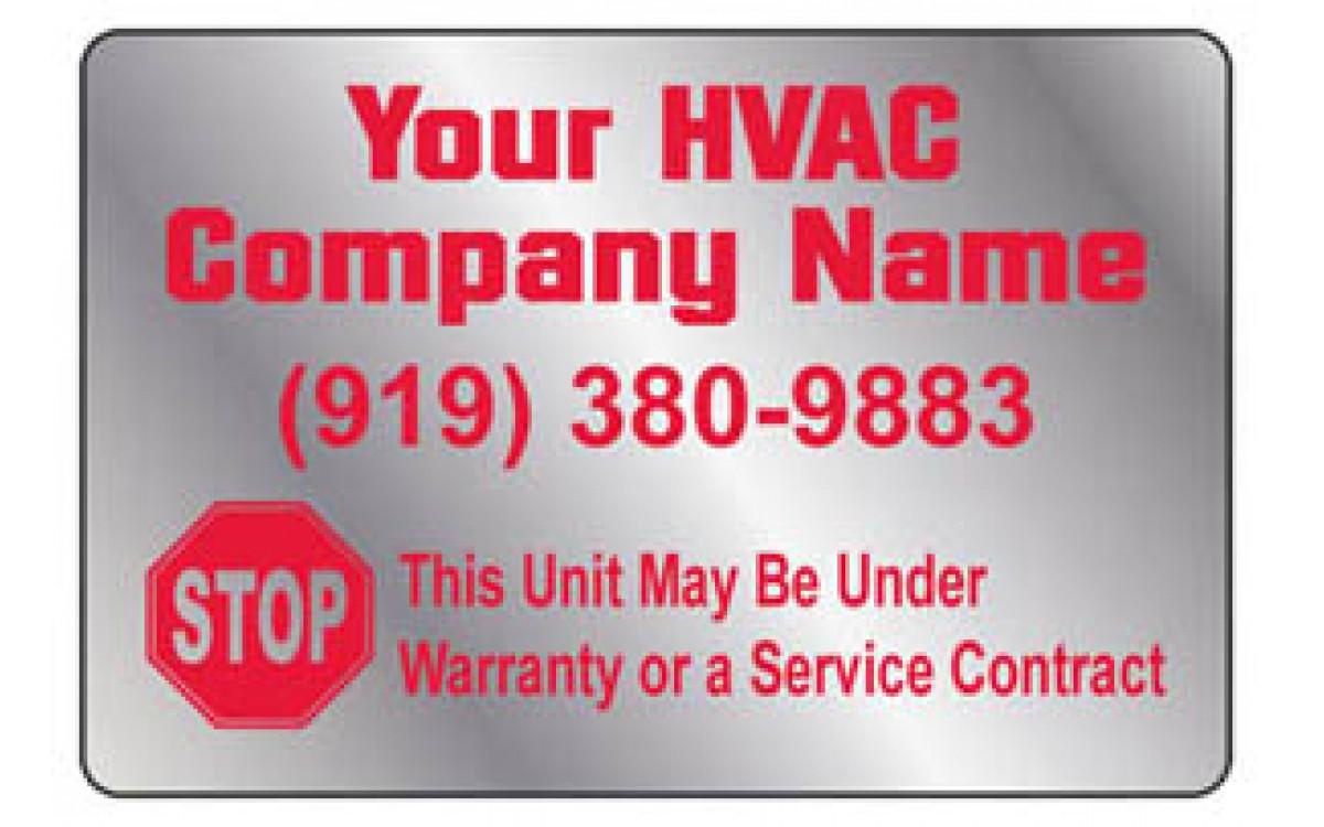 Buying HVAC Service Labels