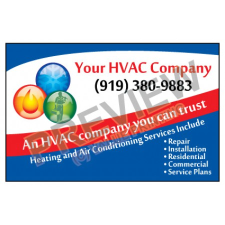 HVAC Weatherproof Service Call Sticker #1 (4.25x2.75)