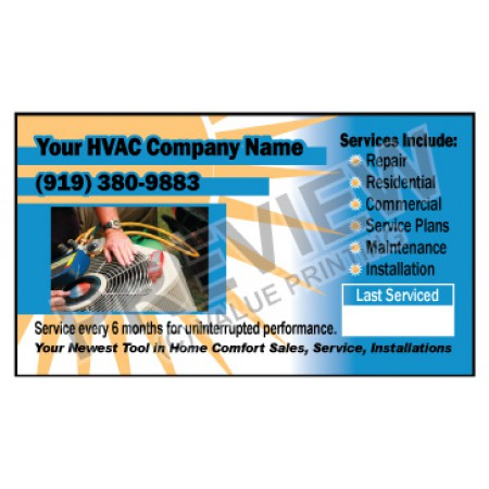 HVAC Weatherproof Service Call Sticker #10 (2x3.5)