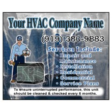 HVAC Weatherproof Service Call Sticker #14 (4.25x3.5)