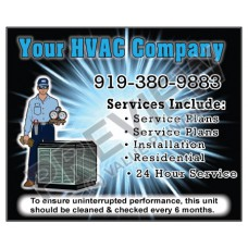 HVAC Weatherproof Service Call Sticker #16 (4.25x3.5)