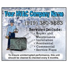 HVAC Weatherproof Service Call Sticker #17 (4.25x3.5)