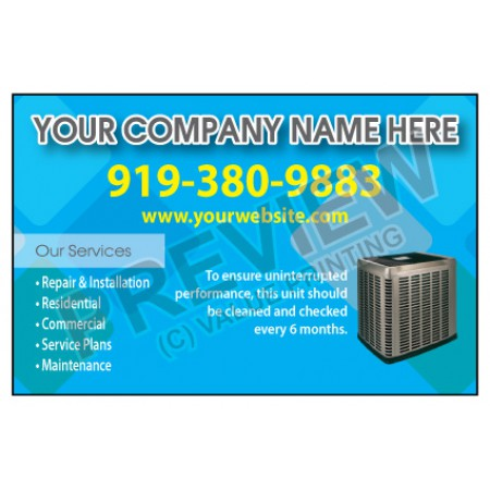 HVAC Weatherproof Service Call Sticker #19 (4.25x2.75)