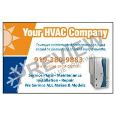 HVAC Weatherproof Service Call Sticker #21(4.25x2.75)