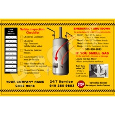 Water Heater Sticker (6x9)