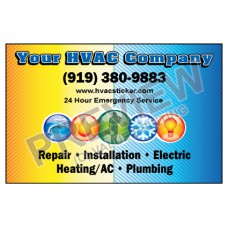 HVAC Weatherproof Service Call Sticker #3 (4.25x2.75)