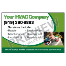 HVAC Weatherproof Service Call Sticker #4 (4.25x2.75)