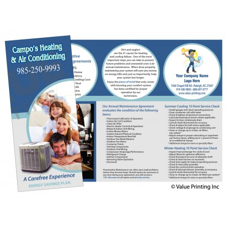 HVAC Maintenance Agreement Sales Brochure Flier #2