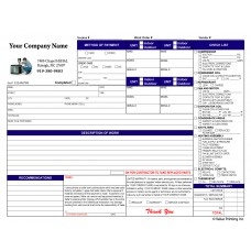 HV-1001C Full Color Flat Rate Invoice