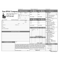 HV-1003 HVAC Time & Materials Work Order Invoice
