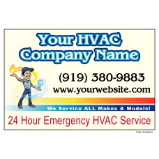 HVAC Vehicle Magnet #3