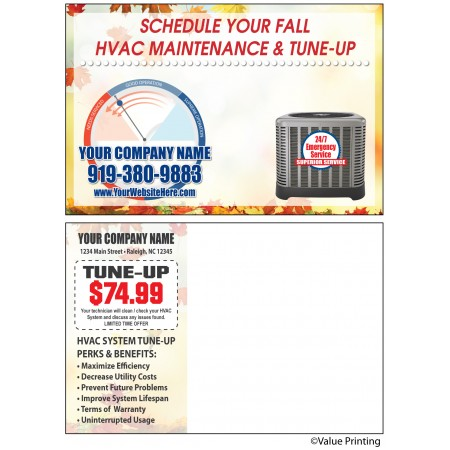 HVAC Fall Maintenance Postcard #42