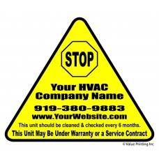 HVAC Vinyl Die Cut Sticker Label #2 (2.5x3)