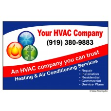 HVAC Vinyl Service Sticker Label #1 (4.25 x 2.75)