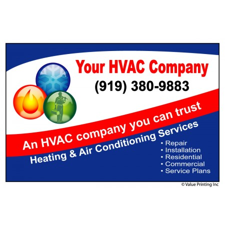HVAC Vinyl Weatherproof Service Sticker Label #1 (4.25 x 2.75)