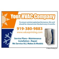 HVAC Vinyl Service Sticker Label #4 (4.25 x 2.75)